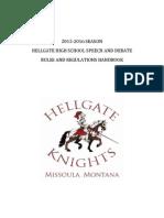 speech and debate handbook 2015-16