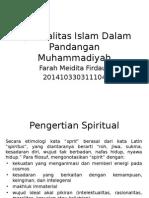 Memahami dan Menghayati Spiritualitas Islam Dalam Pandangan Muhammadiyah.pptx