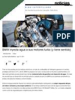 BMW Inyecta Agua a Sus Motores Turbo (y Tiene Sentido)