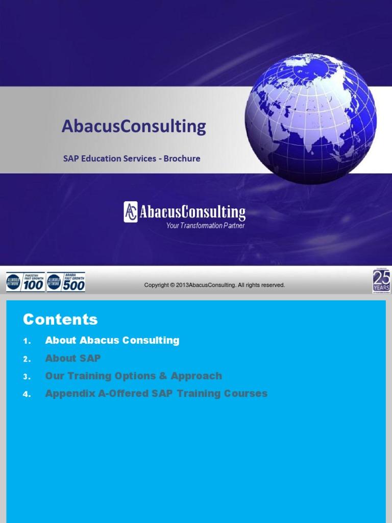 Abacus SAP Education   Sap Se   Enterprise Resource Planning
