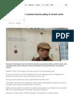 Holocaust Historians Condemn Austria Jailing of Jewish Writer - BBC News