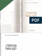63453670 Literatura Pra Que Antoine Compagnon