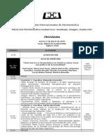 Programa Jornadas Hermeneútica Del Barroco