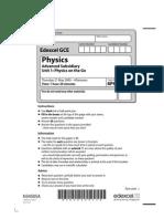 Physics Jun 2009 Actual Exam Paper Unit1