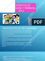 Propósitos de Secundaria