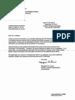 IRS Letter v. Sawyer