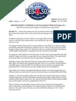 Salem Red Sox Game Recap