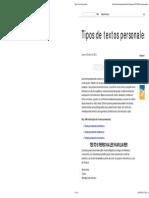 Tipos de Textos Personales folleto