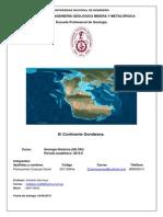 Informe 02 Gondwana - Geología Histórica