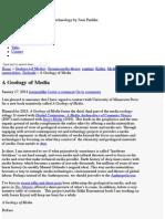 A Geology of Media - Machinology