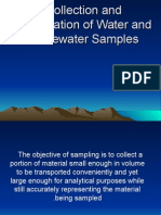 Collection  Preservation of Water and Waste-water Samples