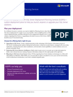 SQL Server Deployment Planning Services Datasheet