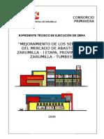 Caratula Expediente Tecnico Mercado