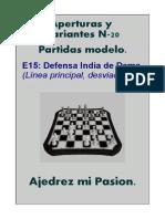 Defensa India de Dama Línea Principal