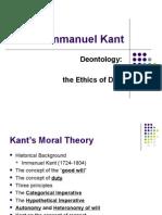 Kant's Moral Theory Presentation