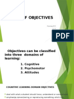 Types of Objectives