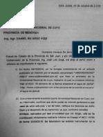 Carta notarial del Gobierno de San Juan a la Universidad Nacional de Cuyo (UNCuyo)
