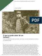 WISNIK José Miguel - O Que Se Pode Saber de Um Homem [Piauí 109]