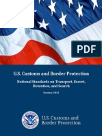 U.S. Customs and Border Protection, National Standards on Transport, Escort, Detention, and Search