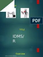 IDMS Training