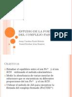 ESTUDIO DE LA FORMACIÓN DEL COMPLEJO Fe(SCN)+