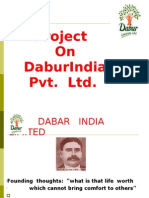 Project on DaburIndia Pvt. Ltd.