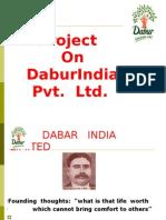 Project on DaburIndia Pvt. Ltd.