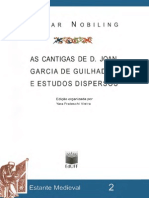 As Cantigas de d. Joan Garcia de Guilhade e Estudos Dispersos