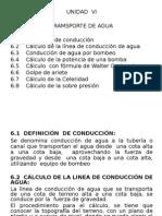 Unidad  VI TRANSPORTE  DE AGUA.pps