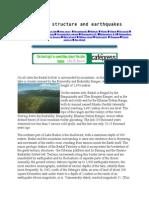 Geologic Structure and Earthquakes Lake Baikal