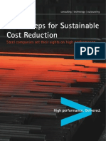 Accenture Three Steps Sustainable Cost Reduction Steel Companies Set Sights