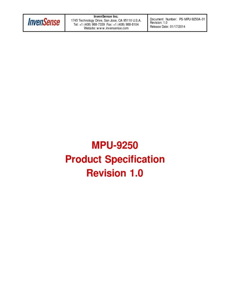 MPU9250 REV1 0 9-Axis Gyro-Accel-Magnet   Gyroscope