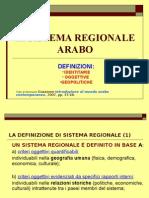 Il Sistema Regionale Arabo