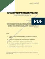 La Evaluacion Del Desempeno en El Estatuto Basico Del Empleado Publico