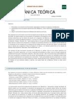 Mecánica Teórica - Guía