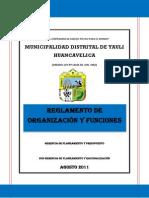 REGLAMENTO DE ORGANIZACIÓN Y FUNCIONES - 2011.pdf