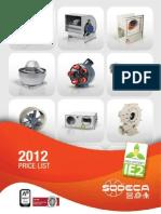 TF01 Price List 2012EN