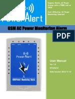 Alarma RTU5012 GSM AC Power Monitoring User Manual V1.0