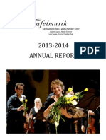 2013 2014 Annual Report Tafel Music