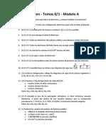 1 Bach 2015 - Examen T0-1 A