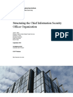 Structuring the Chief Information Security Officer Organization