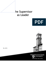 Supervisor as Leader