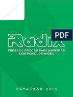 Radix Catalogo Frezas Madeira 2013