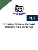 Glosario Terminolog a Asf Ltica d