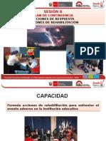SESIÓN 6 PLAN DE CONTINGENCIA ACCIONES DE RESPUESTA ACCIONES DE REHABILITACIÓN