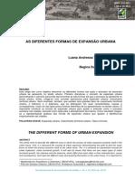As Diferentes Formas de Expansão Urbana
