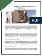 Remodelación de La Calle Álvaro Obregón