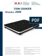 Manual 239230 Induction Cooker 2000