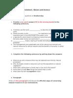 Worksheet Assignment 3