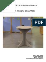 Memoria Mesas de Cartón en Autodesk Inventor Julio Yáñez